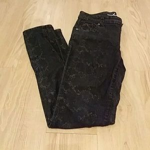 Inc charcoal and gold jeans